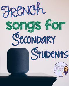 This list has some great French songs for teaching vocabulary, grammar, and verb conjugation for secondary Core French and FSL students. How To Speak French, Learn French, Teaching French Immersion, Communication Orale, French Language Learning, Learning Spanish, Learning Italian, German Language, Japanese Language