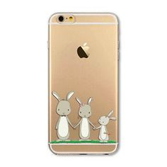 """Mobile Phone Bags Case Cover for iphone 6 6S 4.7"""" Soft Slim TPU Transparent Soft Cute Animal Cat, Owl, Rabbit Printed Style"""