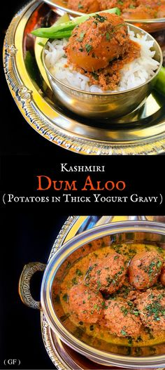 Kashmiri Dum Aloo (Potatoes in Thick Yogurt Gravy) #dum #aloo #kashmiri…