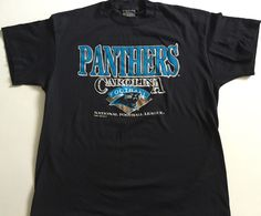 A personal favorite from my Etsy shop https://www.etsy.com/listing/277778466/vintage-carolina-panthers-inaugural