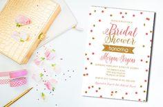 Bridal Shower Invitation Confetti Bridal Shower by RockStarPress