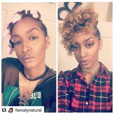 """#Repost @fiercelynatural with @repostapp ・・・ Before & After. 💁🏽 Check out @GetBouncyCurls ➰, for beautiful heat free curls. Use the coupon code """"Fierce"""" to get 20% off of your purchase ✨✨. #bouncycurls #naturalhairdaily #naturalhair #curlfriends #curlbox #melanin #mynaturalhairisdope #gitcurls #teamnatural #rollerset #protectivestyles #berrycurly #myhaircrush #hairtutorial #naturallyshesdope #dopecurls Heat Free Curls, Bouncy Curls, Roller Set, Protective Styles, My Hair, Natural Hair Styles, Crushes, Coupon, Curly"""