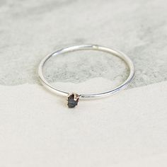 In love with this simple Erica Weiner Black diamond ring!