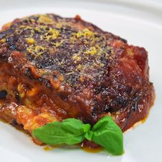 Eggplant parmigiana - Ingredients for 1 pan Preparation time: 60 minutes Difficulty: Easy Aubergines, 800 g; Best Dinner Recipes, Gourmet Recipes, Cooking Recipes, Healthy Dinner Recipes, Salsa Italiana, Sicilian Recipes, Chicken Wing Recipes, Mediterranean Recipes, Vegetable Recipes