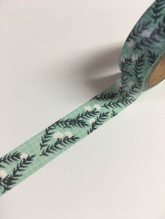 Blue Washi Tape Turquoise Floral Cute Washi by ThePurpleOnionBooks