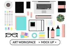 Art Workspace Mockups by lokko studio on Creative Market (Do not forget that is valid only this week, enjoy!)