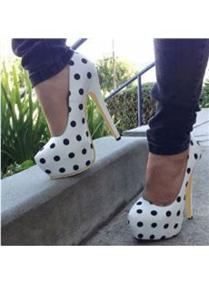Chic Polka Dot Platform Stiletto Heels #Shoes #highheels #high #heels #platform #wedges #sandals #stilettos #sexy #sexyshoes
