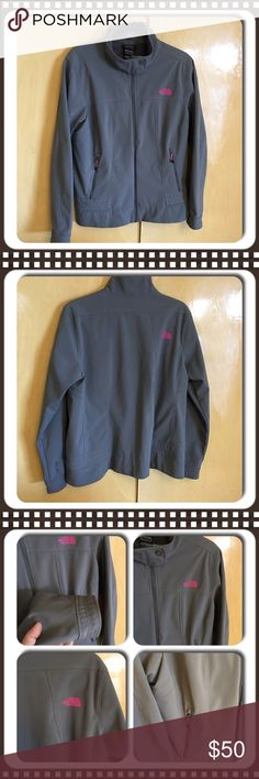 THE NORTH FACE Apex Bionic Gray/Hot Pink Jacket XL Apex ClimateBlock soft-shell jacket now sports a sleek, updated design that keeps you warm and windchill-free. The comfortable fleece backer feels smooth against the skin or baselayers. Finished with a hem cinch-cord that allows you to adjust the fit. Women's Size XL Excellent like new condition! North Face Jackets & Coats
