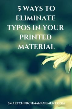 Avoiding Typos in Your Printed Material | Smart Church Management