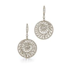 Seashell diamond earrings from the Kwiat collection, available with more Kwiat jewelry at Hands Jewelers!