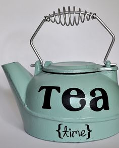 Love this...note to self steal parents old tea kettle next time in CA