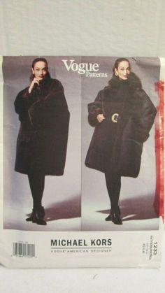 1233 Vogue American Designer Michael Kors Reversible Coat Pattern XS S M Vogue Patterns, Coat Patterns, Clothing Patterns, Michael Kors Designer, Sewing Patterns For Kids, Oversized Coat, Pattern Fashion, American, Fashion Sewing