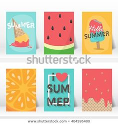 Find Summer Holiday Vacation Poster Set Flat stock images in HD and millions of other royalty-free stock photos, illustrations and vectors in the Shutterstock collection. Art Mini Toile, Diy And Crafts, Paper Crafts, Summer Poster, Summer Fun List, Mini Canvas Art, Birthday Gifts For Best Friend, Diy Notebook, Grafik Design