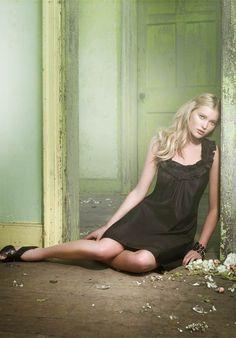 A Line Scoop Knee Length Tissue Taffeta Bridesmaid Dress Style DRESS35424