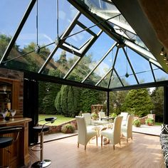 Inspiration for your Garden Room | Crystal Living Glass Roof Modern Conservatory Roof Ideas & The 22 best Glass Roof Ideas images on Pinterest | Glass ceiling ...