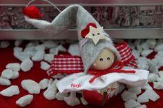 Gnome Natale / / Fairy Angel albero decorazione ornamenti / / | Etsy Diy Christmas Angel Ornaments, Christmas Fairy, Christmas Love, Christmas Angels, Rustic Christmas, Christmas Crafts, Tree Decorations, Christmas Decorations, Bow