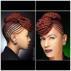 Image may contain: 2 people Braided Cornrow Hairstyles, African Braids Hairstyles, Cornrows Updo, Mohawk Braid, Mohawk Hairstyles, Protective Hairstyles, Protective Styles, Natural Hair Braids, Braids For Black Hair