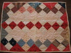 """Antique Vintage Handmade One of A Kind Doll Quilt Very Nice 17 ½ x 23"""" 