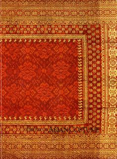 CEREMONIAL SHOULDER CLOTH, SELENDANG SONGKET  Palembang, Sumatra, Indonesia