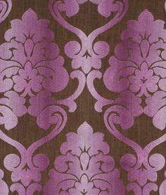 Robert Allen Dahlia Gardens Rosewood upholstery fabric