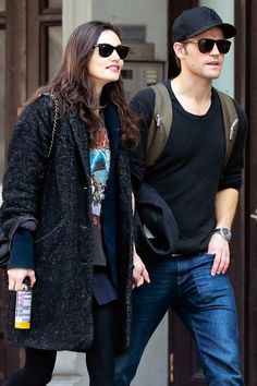 Phoebe Tonkin and Paul Wesley Hold Hands During an Afternoon Stroll