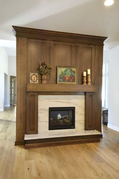 Home Fireplace, Fireplace Remodel, Fireplace Makeovers, Fireplaces, Wooden Toilet Seats, Double Sided Fireplace, Wooden Vanity, Contemporary Vanity, Wooden Cabinets