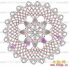 View album on Yandex. Crochet Doily Diagram, Crochet Motifs, Crochet Chart, Crochet Stitches, Crochet Doily Patterns, Crochet Doilies, Crochet Feather, Crochet Tablecloth, Crochet Home
