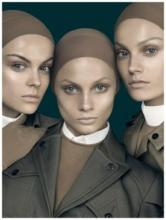Viktoriya Sasonkina, Anna Selezneva, and Anna Jagodzinska  Vogue Italia (Jan. 2010) Cover – Form Function