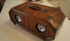 Steampunk Vintage-Style Bluetooth Speakers 50 watt Stereo