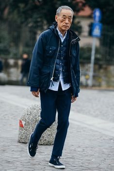 Best Of Men's Milan Fashion Week 2015 Street Style Old Man Fashion, Look Fashion, Mens Fashion, Look Street Style, Street Styles, Tommy Ton, La Mode Masculine, Normcore, Fashion Week 2015
