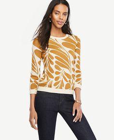 Image of Petite Leaf Petal Sweater