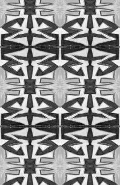 9614 black white wallpaper, $19.00 by Lindsay Cowles Fine Art