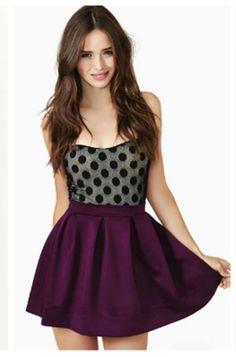 Resultado de imagen para outfits falda morada