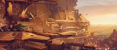Sci fi cityscape by Long-Pham on deviantART