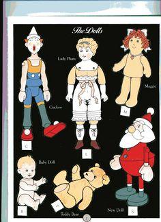 Dollhouse Christmas http://www.pinterest.com/lisaabracken/paperdoll-printables/ mehr Kleidung unter paperdolls christmas