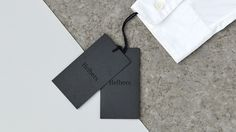 Nice branding and collateral design for menswear label Helbers . Designed by Only Studio . Brand Identity Design, Branding Design, Stationery Design, Swing Tag Design, Behance, Swing Tags, Clothing Tags, Graphic Design Studios, Creating A Brand
