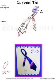 Curved Tie on Craftsuprint - Add To Basket!