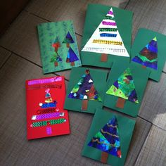 Mama Pea Pod: {Two Christmas Cards Little Kids Can Make} Do you have a hard time finding Christmas crafts that your youngest can do, too? Simple Christmas Cards, Homemade Christmas Cards, Christmas Cards To Make, Christmas Art, Handmade Christmas, Holiday Cards, Christmas Stuff, Christmas Crafts For Toddlers, Childrens Christmas