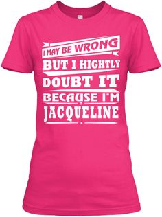 Best T Shirt Name Jacqueline!! Heliconia Women's T-Shirt Front