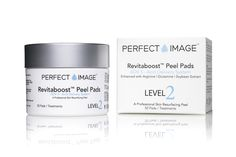 REVITABOOST™ Anti-Aging Peel Pads Enhanced with Glycolic Acid 15% | TCA 15% | Mandelic Acid 3% | Arginine | Glutamine | Soybean 50 Pads / Treatments A professional strength anti-aging peel treatment on pre-soaked cotton towelettes. Formulated as a convenient and easy to use peel pad.
