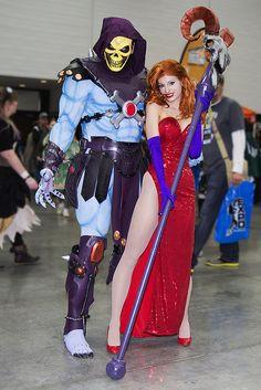 Skeletor (Heman) and Jessica Rabbit | Edmonton Comic and Entertainment Expo ECEE 2013