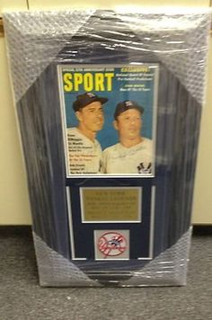 Joe DiMaggio Mickey Mantle Signed Sport Magazine Framed Yankees Display PSA LOA . $1.50. JOE DiMAGGIO MICKEY MANTLEHAND SIGNED SPORT MAGAZINEPROFESSIONAL CUSTOM FRAMED AND MATTED READY FOR DISPLAYGREAT AUTHENTIC BASEBALL MEMORABILIA!!CLICK ON PHOTOS FOR LARGER VIEWAUTOGRAPH AUTHENTICATED BY PSA DNA WITH PSA DNA NUMBERED STICKER ON MAGAZINE AND MATCHING NUMBERED PSA DNA LETTER OF AUTHENTICITY (LOA) INCLUDED.PSA DNA LOA #: E67625ITEM PICTURED IS ACTUAL ITEM BUYER WILL RECEIVE.
