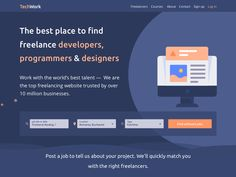 Landing page for jobs platform by Madalina Taina