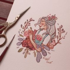 Preparing your orders from my Tictail shop! Thank you so so much for your patience and support! Cool Drawings, Drawing Sketches, Character Drawing, Character Design, Arte Sketchbook, Cartoon Art, Cute Art, Bunt, Art Inspo
