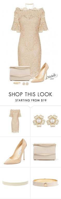 """""""Lovely in Lace"""" by michellesherrill ❤ liked on Polyvore featuring Jimmy Choo, Eddie Borgo, Marc by Marc Jacobs and Keishi Jewellery"""