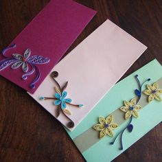Quilled Flower Envelops