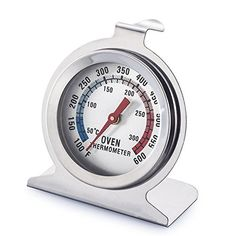 Generic Oven Thermometer Precision Kitchen Food Meat High Heat Large Dial Stainless Steel Oven Monitoring Thermometer