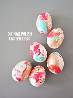 Yes, you read that right: nail polish #Easter eggs.