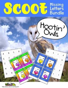 Two Games in One Bundle! This is a great way for your kiddos to practice sequencing letters! They can use the cards and letter manipulatives in a literacy center or play scoot when they are ready. The students could also use the letter manipulatives to match the capital letters with the correct lowercase letters. The cards can also be used for read around the room or as exit cards. Your kiddos will love the cute little owls and playing Hoot Scoot!