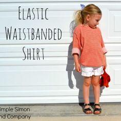 Elastic Waistband Shirt Title